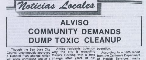 Alviso Community demands Dump Toxic Cleanup