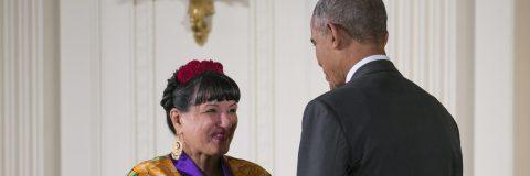 Obama hails Hispanic culture with awards to Sandra Cisneros, Jose Andres