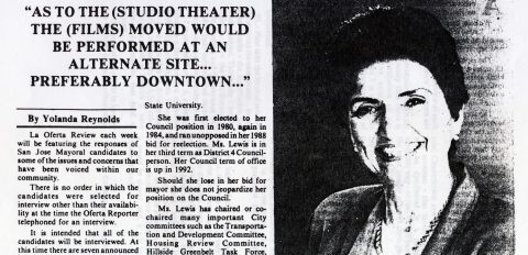 """As to the (Studio Theater) the (Films) moved would be performed at an alternate site… Preferably downtown"""