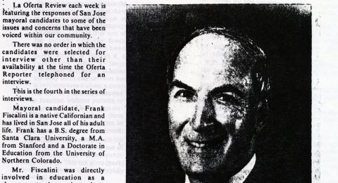 Frank Fiscalini, Mayoral Candidate: