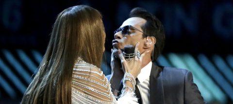 Marc Anthony y Jennifer López deslumbran de la mano en los Grammy Latino