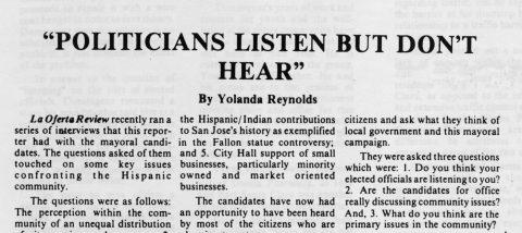 Politicians listen but don't hear