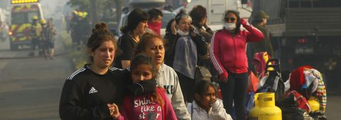 222 Homes destroyed by Chilean fire in city of Valparaiso