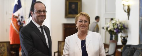 French president praises Chile as stable, open to the world