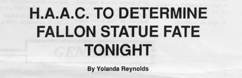 H.A.A.C. to determine Fallon statue fate tonight