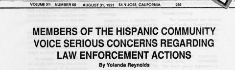 MEMBERS OF THE HISPANIC COMMUNITY VOICE SERIOUS CONCERNS