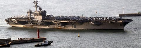 US sends aircraft carrier to Korean peninsula to demonstrate force