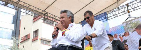 Ecuador's ruling party celebrates election victory