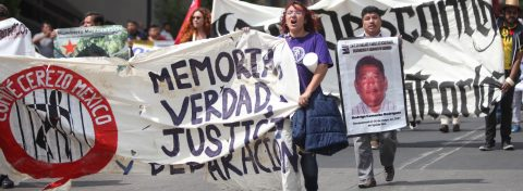 Families of Mexico's disappeared mount protest