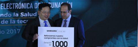 Slim y Samsung se unen para ampliar uso de cartilla de vacunación electrónica