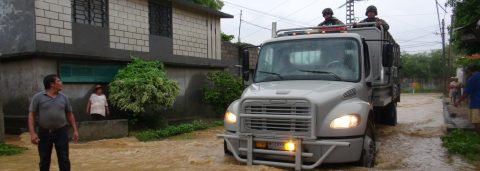 T.S. Calvin downgraded to depression, dumps heavy rain on southern Mexico