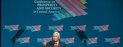 Pence meets with CentAm leaders, Tillerson says ending drug trade is key