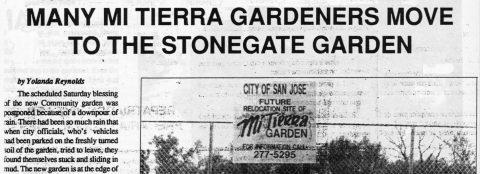 Many Mi Tierra Gardeners move to the Stonagate Garden