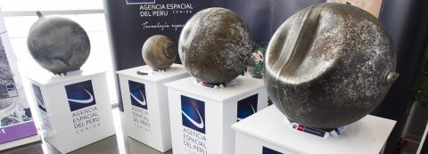 Peru exhibits metal spheres fallen from sky