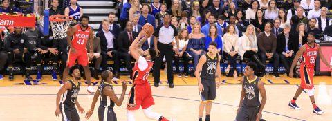 120-126. New Orleans Pelicans superan a los Warriors y le ganan en el último juego en casa