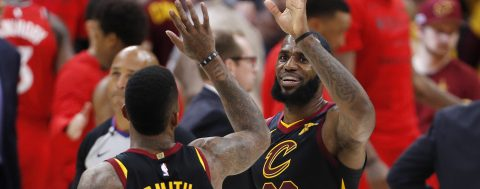 Cavaliers sail into Eastern finals with 128-93 win against Raptors
