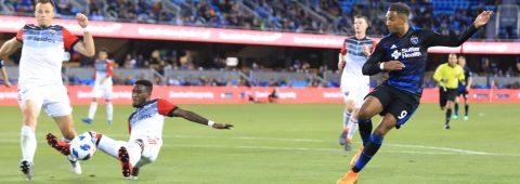 1-3. San José Earthquakes perdió por goleada ante el DC United