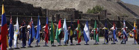 El fuego nuevo de los Juegos de Barranquilla 2018 toma vida en Teotihuacán