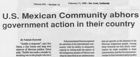 U.S. MEXICAN COMMUNITY ABHORS GOVERNMENT ACTION IN THEIR COUNTRY
