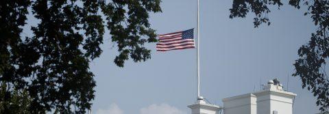 White House reverses decision, returns US flag to half-staff for McCain