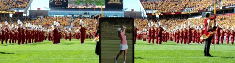 Thousands honor slain golfer Celia Barquin at Iowa State University
