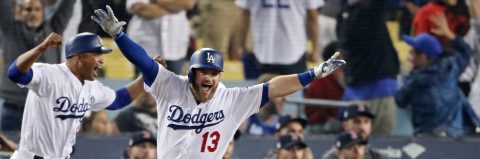 Dodgers cut Red Sox's World Series lead to 2-1 with walk-off homer in 18th
