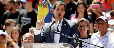Guaido says aid to enter Venezuela starting Feb. 23, Maduro calls for peace