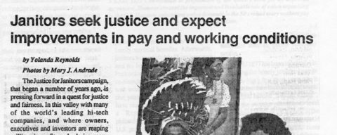 Janitors seek justice and expect improvements in pay and working conditions