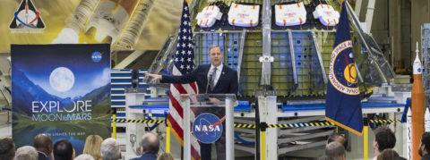 NASA to send astronauts back to Moon, then Mars