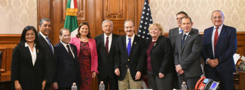 Mexico's president receives US lawmakers