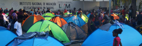 US-bound migrants from 20 countries await permission to cross Mexico