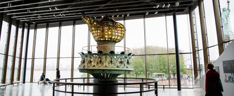 Original torch is centerpiece of Statue of Liberty Museum