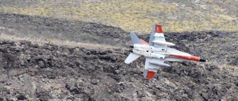 """El cañón """"Star Wars"""", donde los cazas en vuelo rasante casi se pueden tocar"""