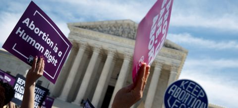 Hundreds protest against anti-abortion laws at US Supreme Court