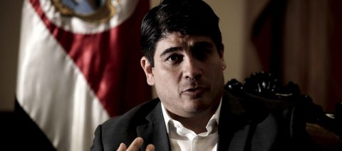 Costa Rican president rejects military option in Venezuela, Nicaragua