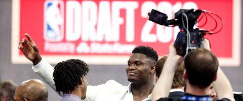 """El """"Draft"""" de la NBA encumbra a Zion Williamson"""