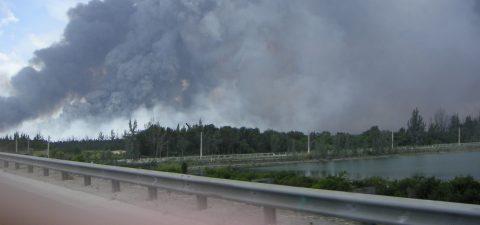 Incendio forestal consume 18.500 hectáreas en los Everglades