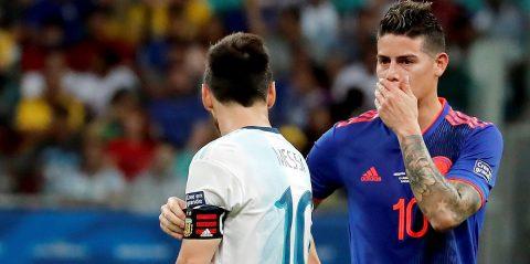 James Rodríguez le gana a Messi el duelo de los 10