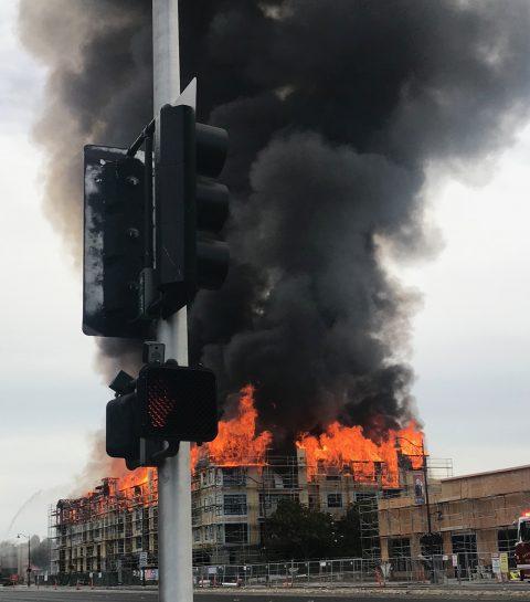 Se registra incendio en la Ciudad de Santa Clara