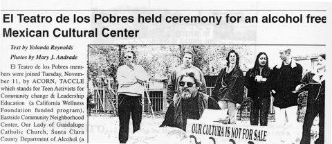 El Teatro de los Pobres held ceremony for an alcohol free Mexican Cultural Center