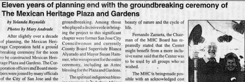 Groundbreaking ceremony of The Mexican Heritage Plaza and Gardens