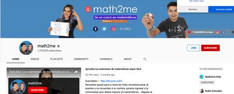 Enseñando matemáticas a millones en Youtube