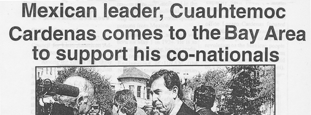 Mexican leader, Cuauhtemoc Cardenas comes to the Bay Area to support his co-nationals