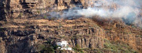 Gran incencio en la isla española de Gran Canaria