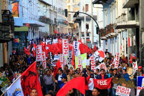 Sindicatos de Ecuador llaman a protestar contra el Gobierno y el acuerdo con el FMI