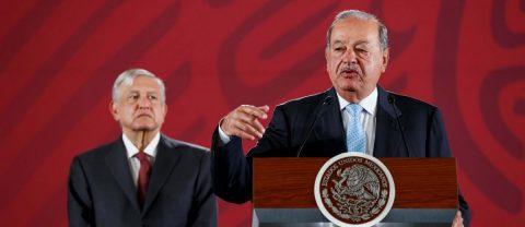 """Slim respalda política económica de López Obrador y pide """"inversión masiva"""""""