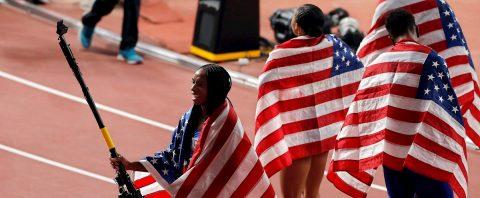 Estados Unidos vuelve a batir el récord mundial de relevos mixtos 4×400