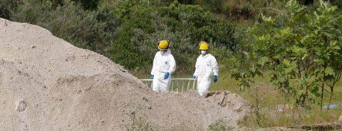 Suman 119 las bolsas con restos humanos encontradas en un bosque de México