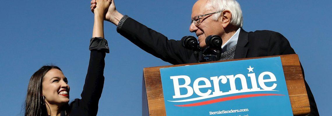 """Sanders regresa a lucha política """"más dispuesto que nunca"""" y arropado por AOC"""