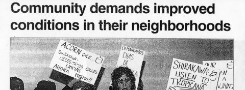 Community demands improved conditions in their neighborhoods